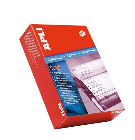 Etikety, do ihličkových tlačiarní, 2 radové, 101,6x48,7 mm, APLI, 6000 etikiet/bal