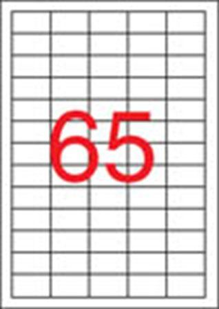 Etikety, do laserových tlačiarní, 38x21,2 mm, APLI, 16250 etikiet/bal