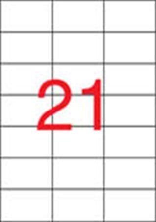 Etikety, do laserových tlačiarní, 42,4x70 mm, APLI, 5250 etikiet/bal