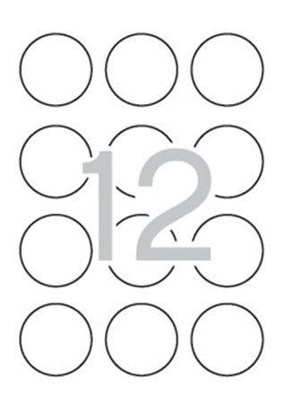 Etikety, okrúhle, priemer: 60 mm, farebné, APLI, neónové žlté, 240 etikiet/bal