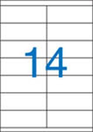Etikety, univerzálne, 105x40 mm, VICTORIA, 1400 etikiet/bal