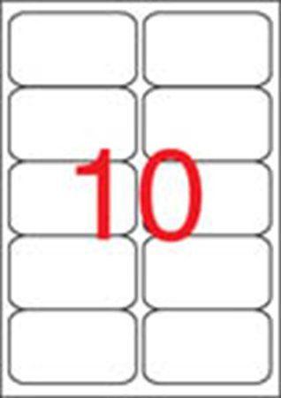Etikety, univerzálne, 99,1x57 mm, zaoblené rohy, APLI, 1000 etikiet/bal