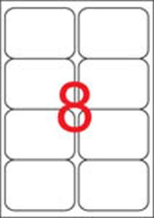 Etikety, univerzálne, 99,1x67,7 mm, zaoblené rohy, APLI, 800 etikiet/bal