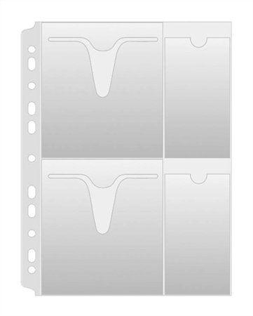 Euroobal na CD/DVD, A4, 160 mikr., číry, DONAU