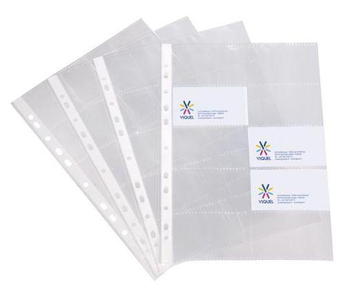 Euroobal na vizitky, A4, 100 mikr., číry, na 20 vizitiek, VIQUEL