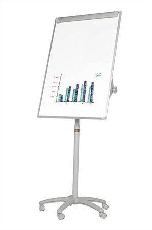 Flipchartová tabuľa, magnetická, 70x100 cm, mobilná,  VICTORIA