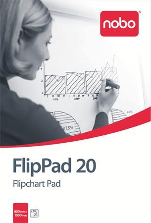 Flipchartový papier, 650 x 955 mm, 20 listov, NOBO