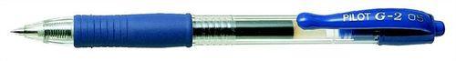 """Gélové pero, 0,25 mm, tlačidlový systém ovládania, PILOT """"G-2"""", modré"""