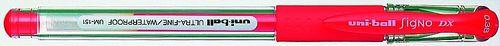 """Gélové pero, 0,38 mm, s uzáverom, UNI """"UM-151"""", červené"""
