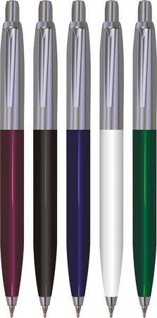 Guľôčkové pero, 0,7 mm, tlačidlový systém ovládanie, telo pera: kov-plast, VICTORIA, modré