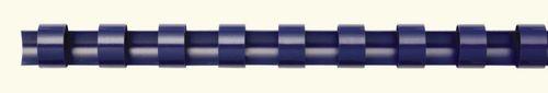 Hrebeň, plastový, 6 mm, 10-20 lap, FELLOWES, 100 ks, modrý