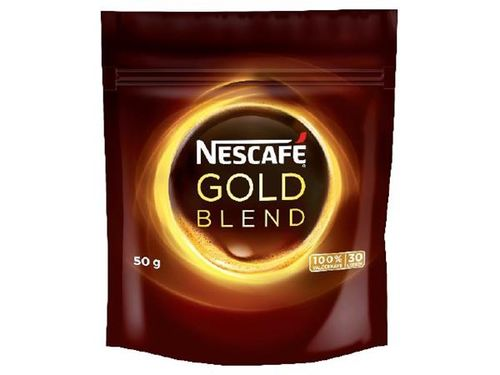 """Instantná káva, 50 g, náplň, NESCAFÉ """"Gold"""""""
