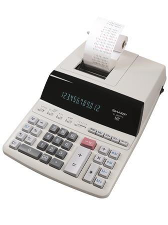 """Kalkulačka, s tlačou, 12 miestny displej, 2 farebná tlačiareň, SHARP """"EL-2607PGGYSE"""""""