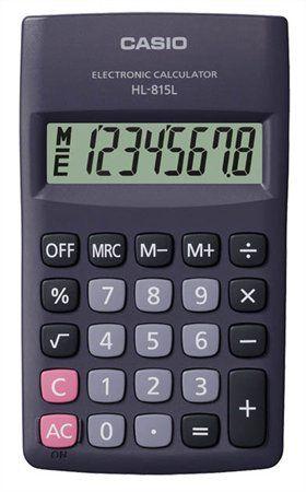 """Kalkulačka, vrecková, 8 miestny displej, CASIO """"HL-815"""""""