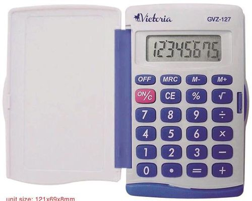 """Kalkulačka, vrecková, 8 miestny displej, VICTORIA """"GVZ-127"""""""