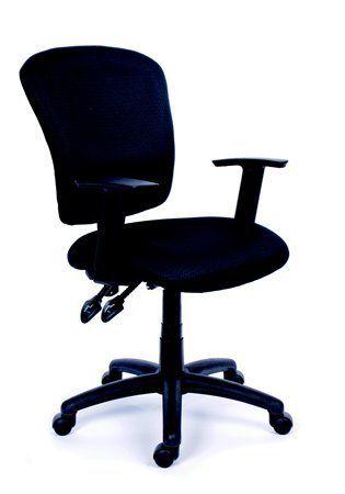 """Kancelárska stolička, čierne čalúnenie, čierny podstavec, MaYAH """"Active"""""""