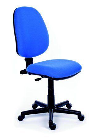"""Kancelárska stolička, modré čalúnenie, čierny podstavec, MaYAH """"Happy"""""""