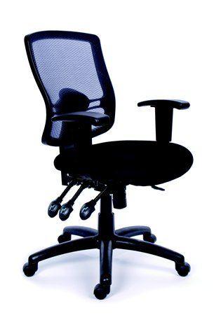 Kancelárska stolička, nastaviteľné opierky, čierne čalúnenie, sieťové operadlo, chrómový p