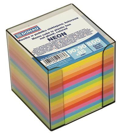 Kancelársky blok, 89 x 89 x 85 mm, s dávkovačom, DONAU, farebný