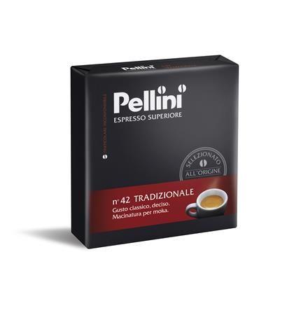 "Káva, pražená, mletá, 2x250 g,  PELLINI, ""Tradizionale"""