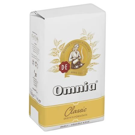 """Káva, pražená, mletá, vákuové balenie, 1000 g,  DOUWE EGBERTS """"Omnia"""""""