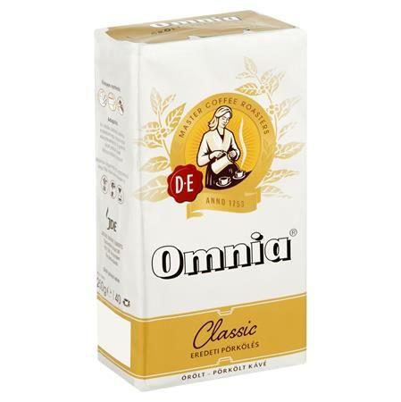 """Káva, pražená, mletá, vákuové balenie, 250 g,  DOUWE EGBERTS """"Omnia"""""""