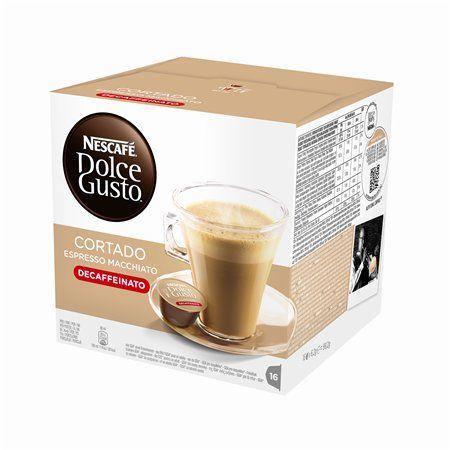 "Kávové kapsuly, 16 ks,  NESCAFÉ ""Dolce Gusto Cortrado"", bez kofeínu"