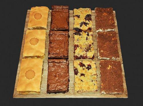 Koláče, 12 ks mix slivkový/tvarohový/jablkový/brownies