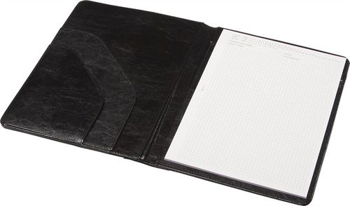 Konferenčná doska, koženka, A4, PANTA PLAST, čierna