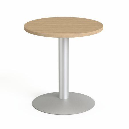 """Konferenčný stôl, okrúhly, so sivou kovovou nohou, O 60 cm, MAYAH """"Freedom SV-57"""", jaseň"""