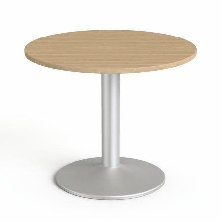 """Konferenčný stôl, okrúhly, so sivou kovovou nohou, O 90 cm, MAYAH """"Freedom SV-58"""", jaseň"""