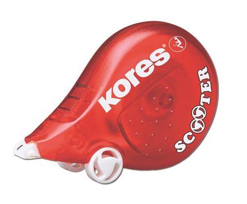 """Korekčný roller, 4,2 mm x 8 m, KORES """"Scooter"""", červený"""