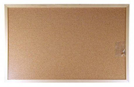 Korková tabuľa, 90x120 cm, drevený rám, VICTORIA