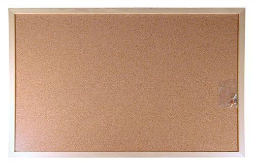 Korková tabuľa, obojstranná, 30x40 cm, drevený rám, VICTORIA
