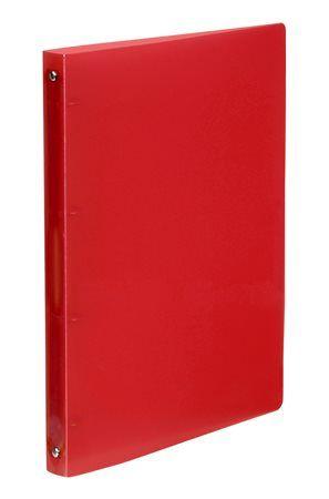 "Krúžkový šanón, 4 krúžky, 25 mm, A4, PP, VIQUEL ""Propyglass"", červený"