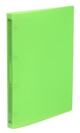 """Krúžkový šanón, 4 krúžky, 25 mm, A4, PP, VIQUEL """"Propyglass"""", zelený"""