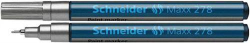 """Lakový popisovač, 0,8 mm, SCHNEIDER """"Maxx 278"""", strieborný"""