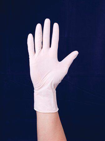 Latexové rukavice, jednorazové, veľkosť 10  (L)