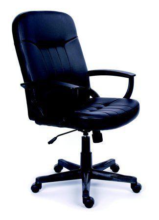 """Manažérska stolička, hojdací mechanizmus, čierna bonded koža, čierny podstavec, MaYAH """"Bos"""