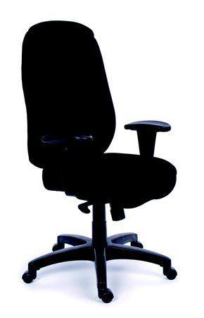 "Manžérska stolička, synchrónová mechanika, čierne čalúnenie, čierny podstavec, MaYAH ""Chie"