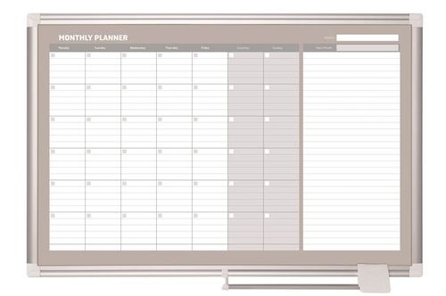 Mesačná plánovacia tabuľa, magnetická, 90x60 cm, VICTORIA