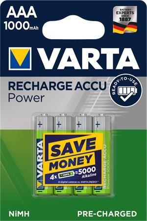 """Mikrotužkové batérie """"Power Accu"""", 4x, AAA, 1000 mAh"""