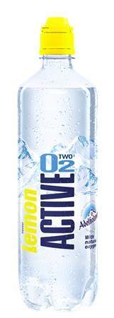 Minerálna voda, ochutená, nesýtená, ACTIVE O2, 0,75 l, citrón