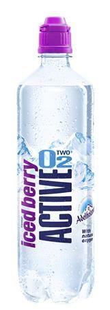 Minerálna voda, ochutená, nesýtená, ACTIVE O2, 0,75 l, čučoriedka
