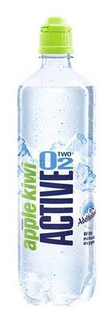 Minerálna voda, ochutená, nesýtená, ACTIVE O2, 0,75 l, jablko-kiwi