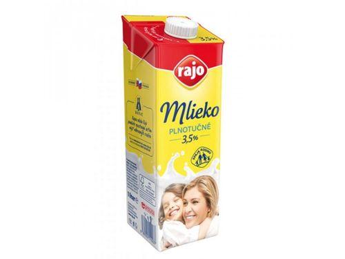 Mlieko trvanlivé Rajo, plnotučné 3,5% 1 L