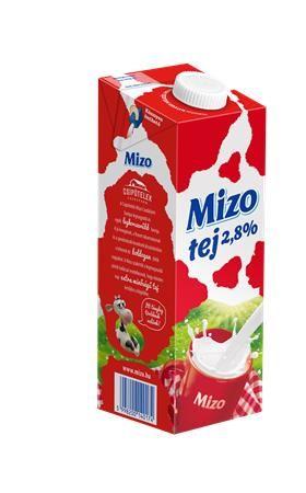 Mlieko, trvanlivé, s uzáverom, 2,8%, 1 l, MIZO