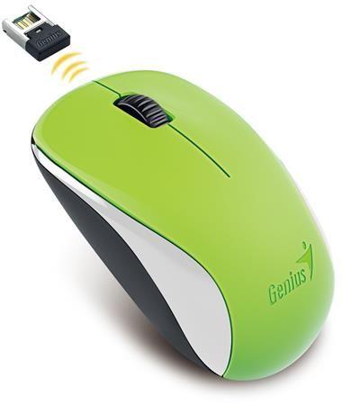 """Myš, bezdrôtová, optická, štandardná veľkosť, GENIUS """"NX-7000"""" zelená"""