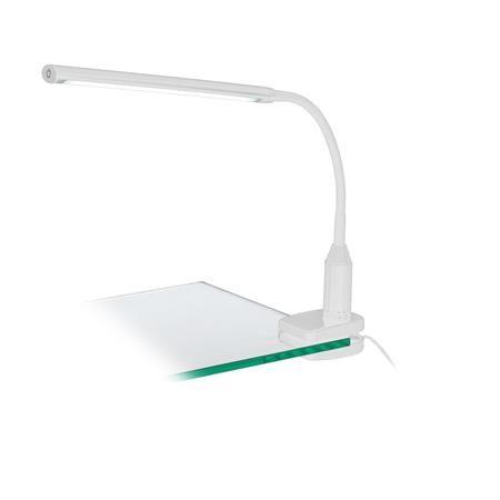 """Na stôl pripevniteľná lampa, LED 4,5W, EGLO """"Laroa"""", biela"""