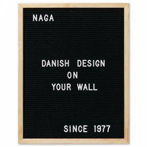 Naga Letterboard 40x50 cm, čierna tabuľa vrátane 149 ks písmenok